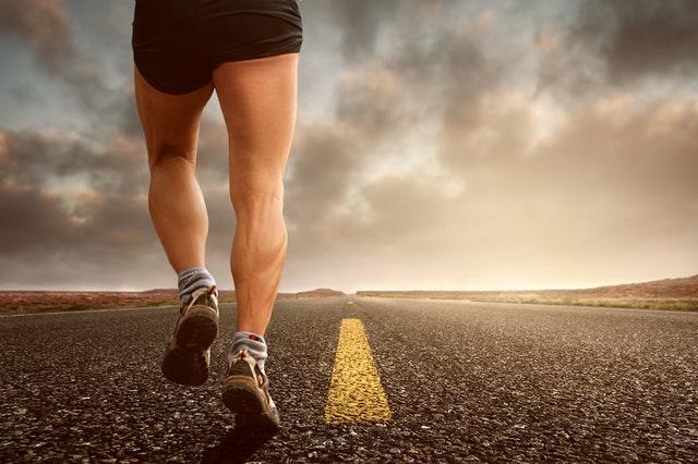 Kuiten bij hardlopen