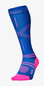 STOX hardloopsokken vrouwen roze/blauw